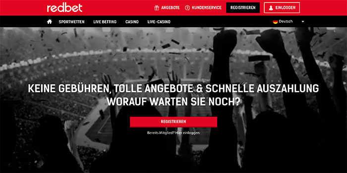 redbet homepage